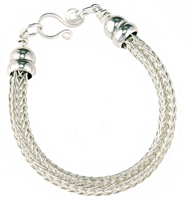 1422 Woven Sterling Silver Rope Bracelet