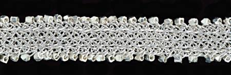 #1425 ~ Flat Trichinopoly Chainwork Silver Bracelet