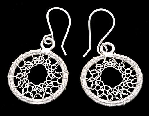 #3503 ~ Gossamer Silver Hoop Earrings in Fine and Argentium Silver