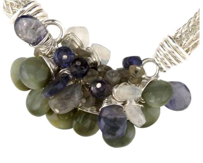 #1407 ~ Chrysoberyl, Iolite, Labradorite, Rainbow Moonstone Bracelet