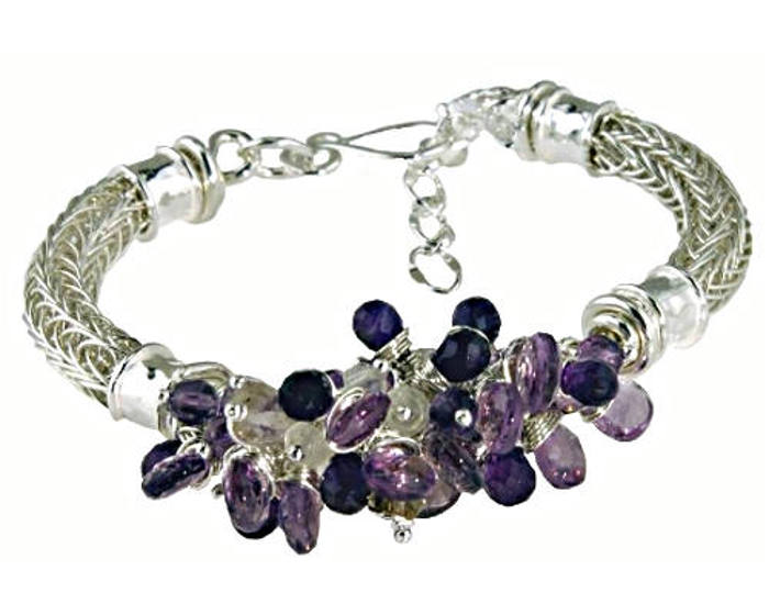 #1432 ~ Amethyst & Ametrine Bracelet