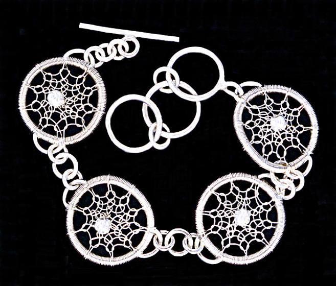 #1496 ~ Silver in Silver Bracelet