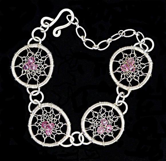 #1500 ~ Silver & Mystic Quartz Bracelet