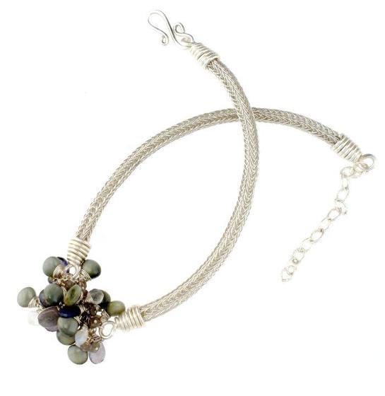 #2408 ~ Chrysoberyl, Iolite, Labradorite, Rainbow Moonstone Necklace