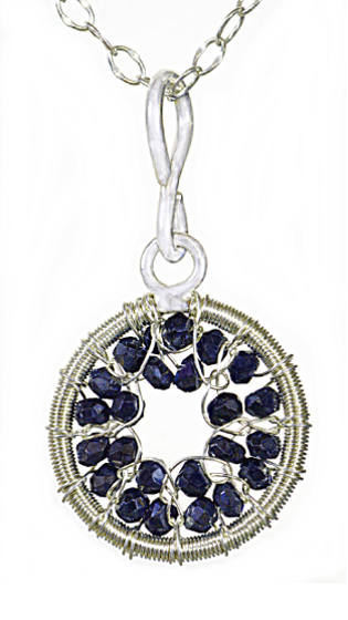 #2506 ~ Silver & Black Spinel Necklace