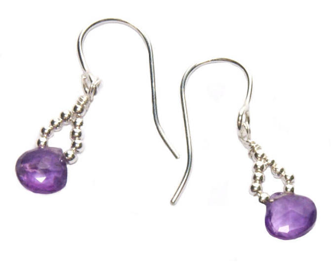 #3443 ~ Amethyst & Ametrine Silver Earrings