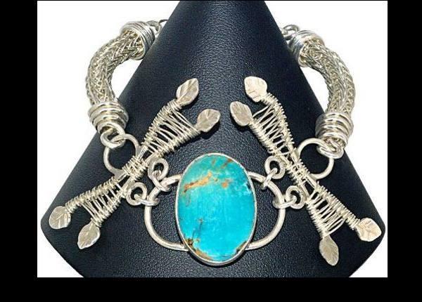 #1550 ~ Unakite and Kababa Jasper Bracelet in Copper